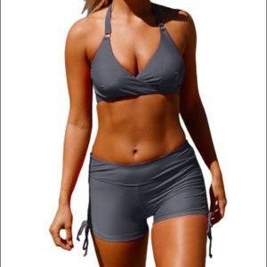 Plus size Two piece bathing suits shorts